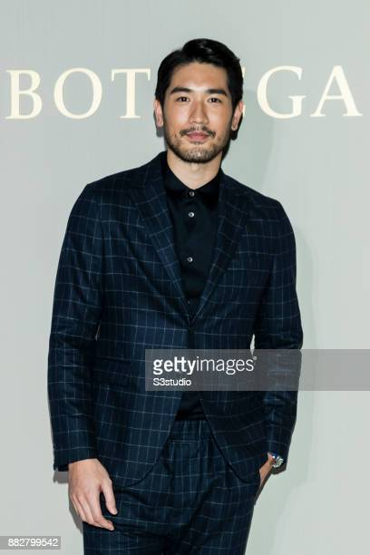 Godfrey Gao attends at the Reopening of Bottega Veneta's Flagship Store on November 30 2017 in The Landmark Atrium Hong Kong Hong Kong