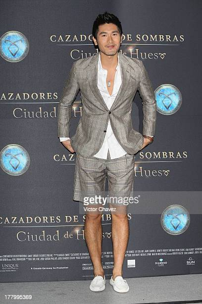 Godfrey Gao attends The Mortal Instruments City of Bones Mexico City photocall at St Regis Hotel on August 26 2013 in Mexico City Mexico