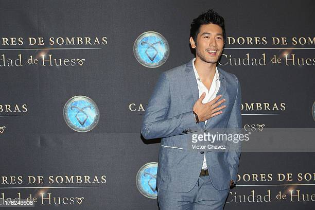 Godfrey Gao attends The Mortal Instruments City of Bones Mexico City screening at Auditorio Nacional on August 27 2013 in Mexico City Mexico