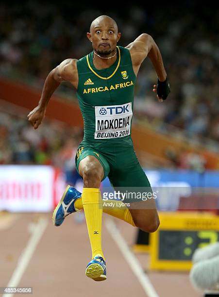 Godfrey Khotso Mokoena of South Africa competes in the Men's Triple Jump final during day six of the 15th IAAF World Athletics Championships Beijing...