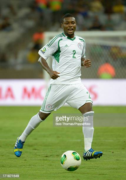 Godfrey Oboabona in action for Nigeria during the FIFA Confederations Cup Brazil 2013 Group B match between Tahiti and Nigeria at the Governador...