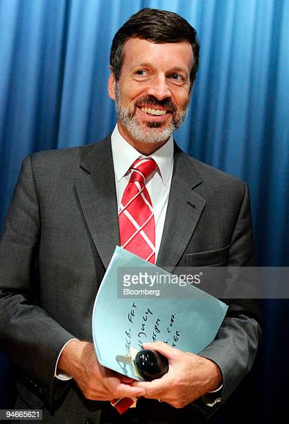 Godfried De Vidts, president of the Financial Market Association pauses after a news conference in Frankfurt, Germany, Tuesday, July 11, 2006.