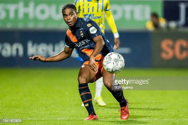 Godfried Roemeratoe of Willem II during the Dutch Eredivisie match between RKC Waalwijk and Willem II at Mandemakers Stadion on September 21, 2021 in...