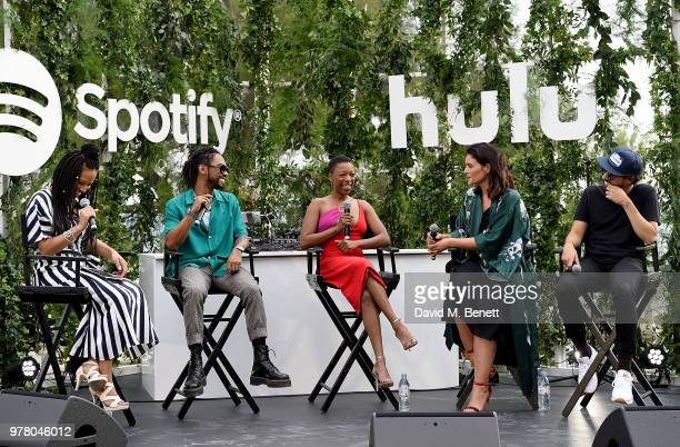 Godis Rivera Miguel Samira Wiley Jessie Ware and Ramy Youssef take part in the panel discussion as Spotify and Hulu host a night for creators artists...