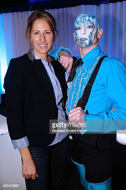 Godmother of One Drop France Maud Fontenoy and actor of the Cirque attend the 'One Drop' Gala held at Cirque du Soleil on November 28 2013 in Paris...