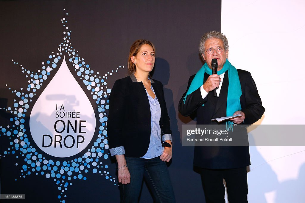 Godmother of One Drop France Maud Fontenoy and CEO One Drop France Laurent Dassault attend the 'One Drop' Gala, held at Cirque du Soleil on November 28, 2013 in Paris, France.
