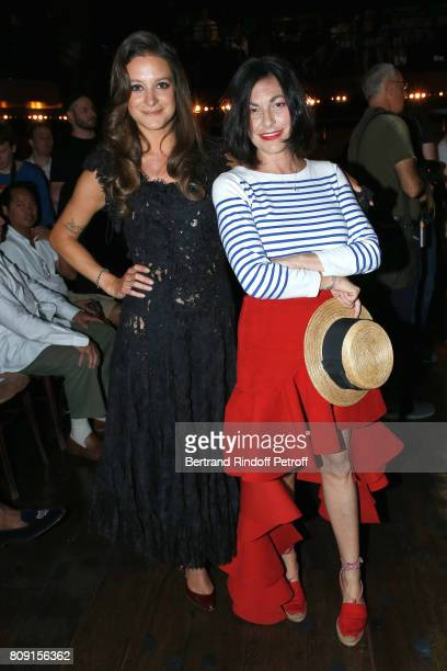 Godmother of the Collection Nubia Esteban and her mother Lio attend the Franck Sorbier Haute Couture Fall/Winter 20172018 show as part of Haute...