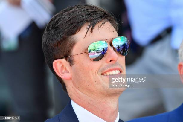 Godolphin trainer James Cummings before the running of the Ladbrokes Chairman's Stakes at Caulfield Racecourse on February 03 2018 in Caulfield...