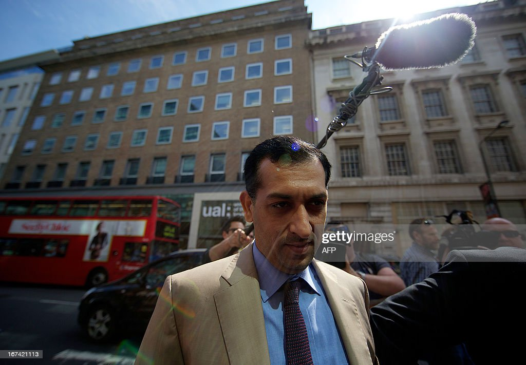 Godolphin trainer Mahmood al-Zarooni arrives for a disciplinary hearing at the British Horseracing Authority (BHA) in London on April 25, 2013