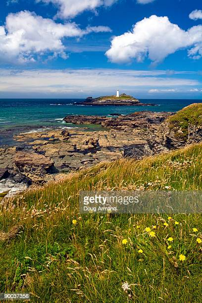 Godrevy Lighthouse in Cornwall, UK