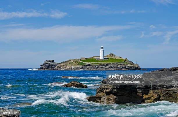 Godrevy lighthouse in st ives bay cornwall england, This lighthouse gave writer Virginia Woolf the inspiration for her novel Òto the lighthouseÓ.