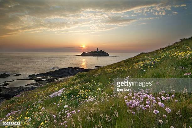 godrevy lighthouse - グイチアン ストックフォトと画像