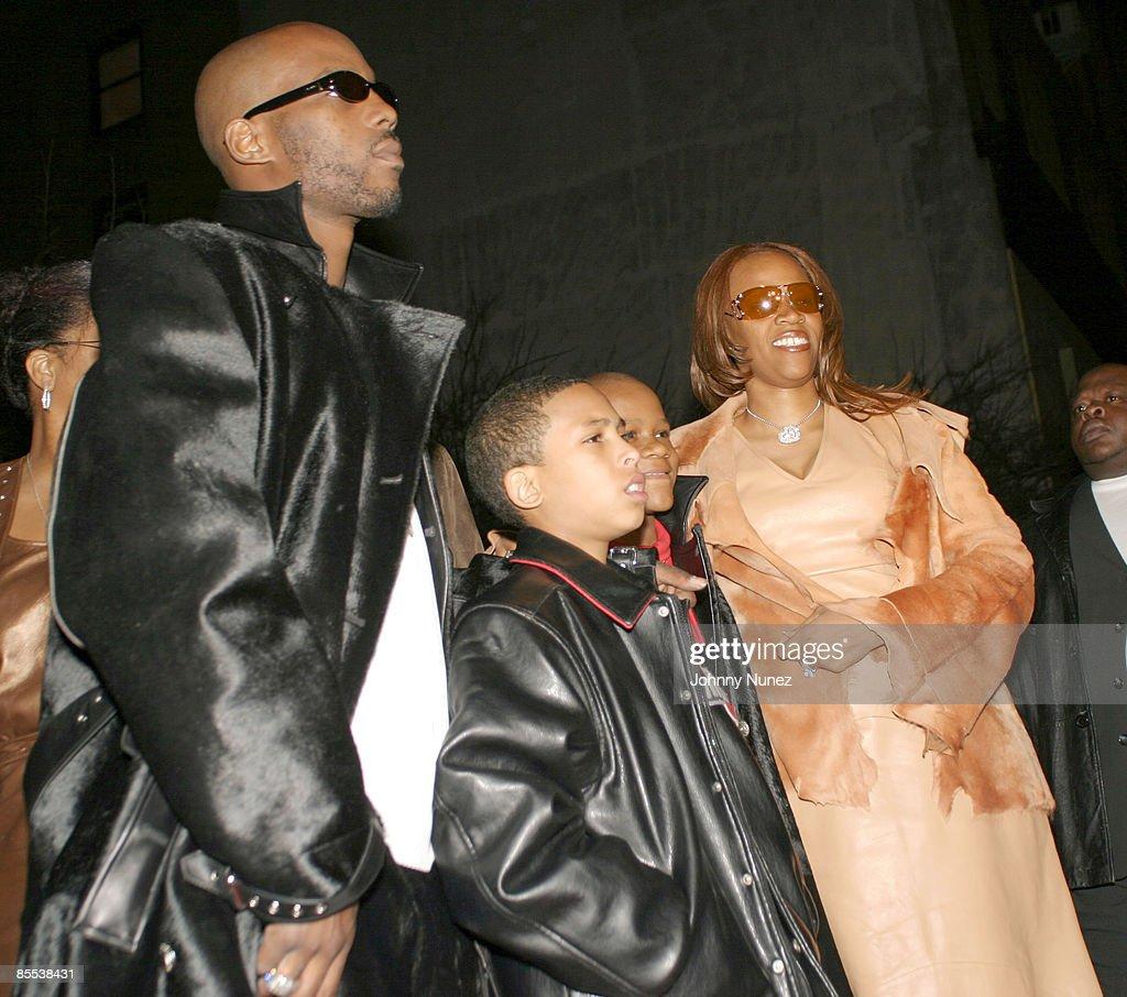 DMX, godson Jevon, son Xavier and wife Tashera Simmons