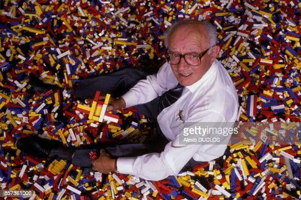 Godtfred Kirk Christiansen presidentdirecteurgeneral de Lego au championnat du monde de Lego le 28 aout 1988 a Billund Danemark