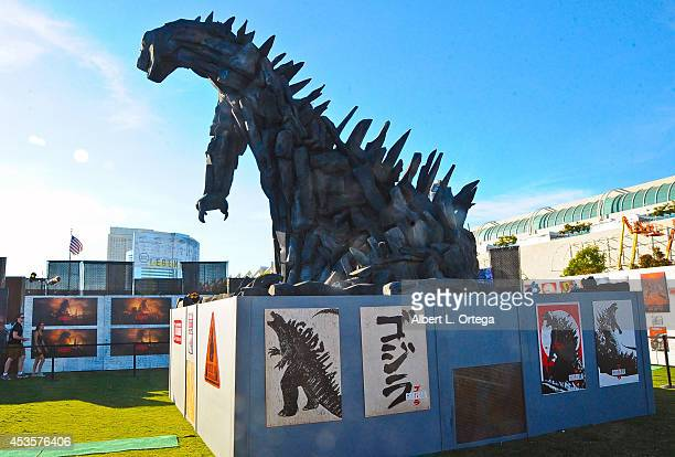 Godzilla attraction on display at Preview Night ComicCon International 2014 held at the San Diego Convention Center on July 23 2014 in San Diego...