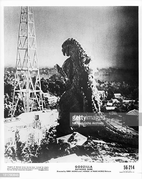 Godzilla in a scene from the film 'Godzilla King Of The Monsters' 1956