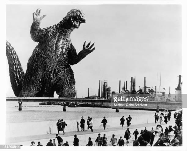 Godzilla in a scene from the film 'Godzilla VS The Smog Monster' 1971