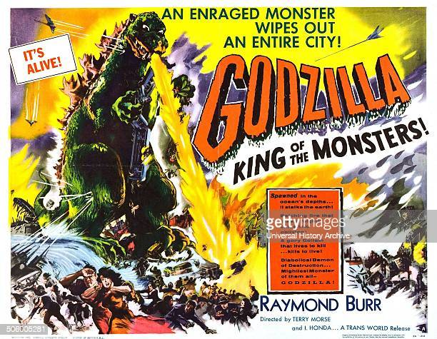 'Godzilla king of the monsters' starring Raymond Burr in this 1956 horror