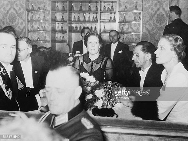 Goebbels and wife appear at Berlin Press Ball. Berlin, Germany: Dr. Paul [Joseph] Goebbels and Frau Goebbels shown at the recent Press Ball, where...