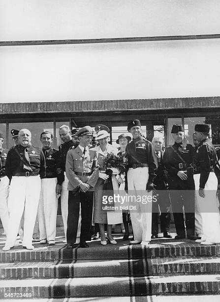 Goebbels, Joseph - Politician, NSDAP, Germany *29.10.1897-+ Joseph Goebbels and his wife Magda visit the Venice Film Festival, arrival at the airport...