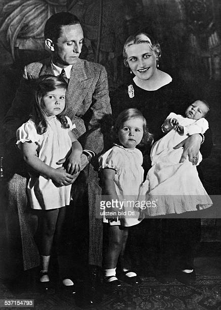 Goebbels Joseph Politician NSDAP Germany with his wife Magda and his children Helga Hilde and Hellmut 1935 Photographer WFleischer Published in...