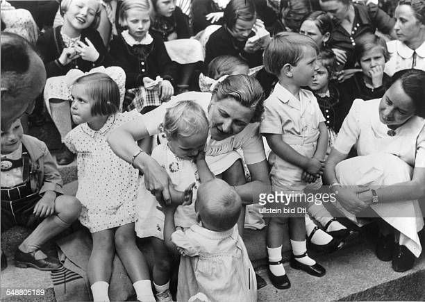 Goebbels Magda Wife of J Goebbels Germany *19011945 Wife of Joseph Goebbels With Austrian children of the school ' Reichsschule des Reichsbundes der...