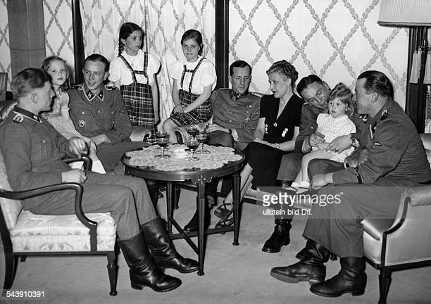 Goebbels Magda Wife of J Goebbels GermanyWith her daughters at a reception for SSsoldiers who took part in the conquering of the city of Charkiv 1943...