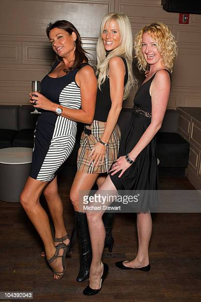 Goedele Liekens Michaele Salahi and guest attend The Real Housewives Of DC viewing party at La Pomme on September 23 2010 in New York City