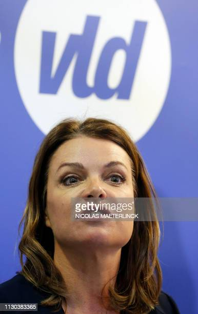 Goedele Liekens pictured during a press conference to present the Open Vld list for the upcoming elections in Flemish Brabant, Tuesday 12 March 2019,...