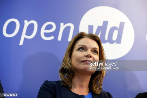 Goedele Liekens pictured during a press conference to present the Open Vld list for the upcoming elections in Flemish Brabant Tuesday 12 March 2019...