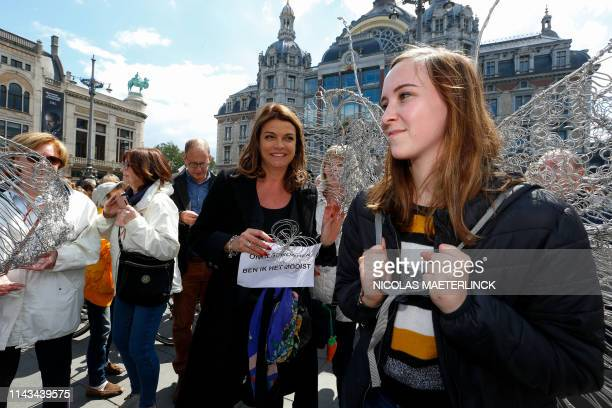 Goedele Liekens pictured during a silent march for student Julie Van Espe and victims of sexual violence in Antwerp Sunday 12 May 2019 23yearold...