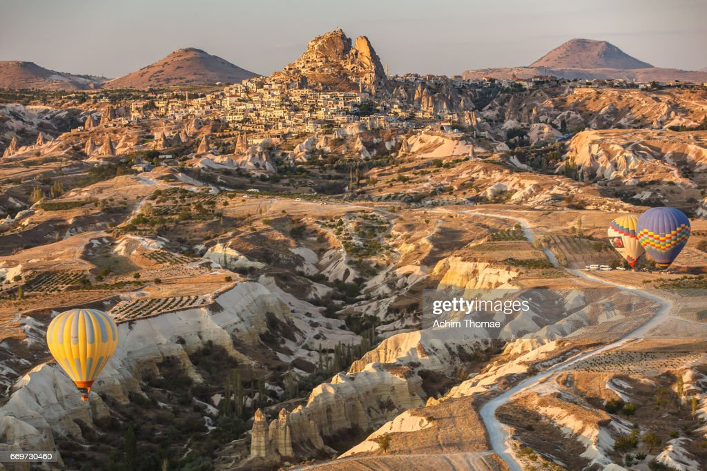 Goereme Aerial View, Cappadocia, Turkey : Stock Photo