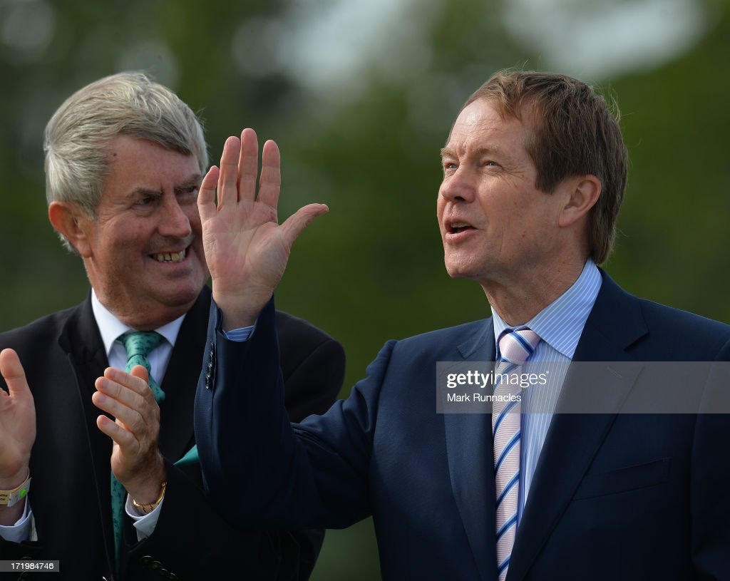 Goerge O'Grady, Chief Executive of the European Tuor during the presentation of the Irish Open trophy at Carton House Golf Club on June 30, 2013 in Maynooth, Ireland.