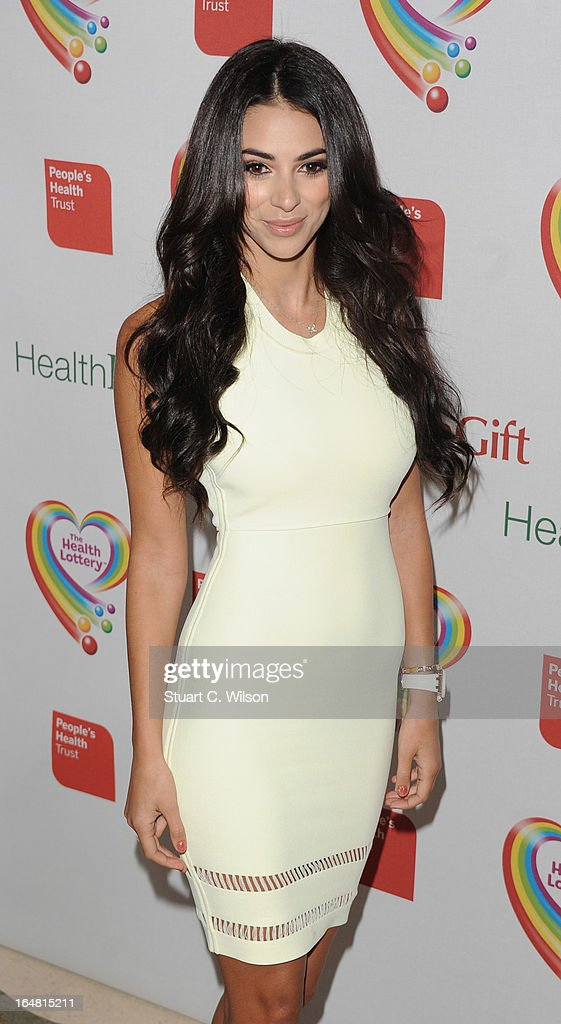 Goergia Salpa attends a fundraising event in aid of The Health Lottery hosted by Simon Cowell at Claridges Hotel on March 28, 2013 in London, England.