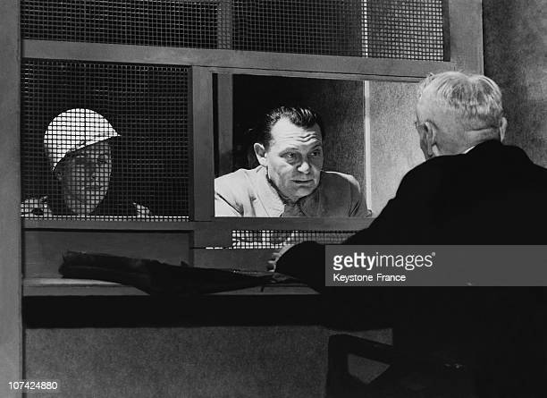 Goering Discussing With His Lawyer In The Palace Of Justice At Nurenberg In Germany On March 20Th 1946