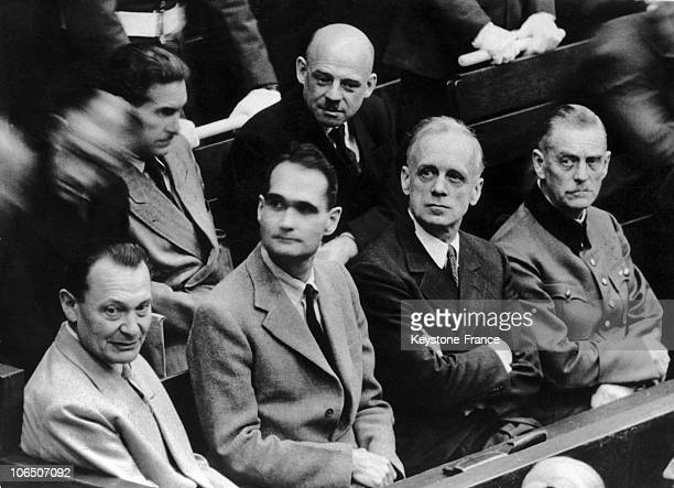 Goering Rudolf Hess Joachim Von Ribbentrop General Keitel And On The 2Nd Row Fritz Sauckel In Charge Of Service Du Travail Obligatoire