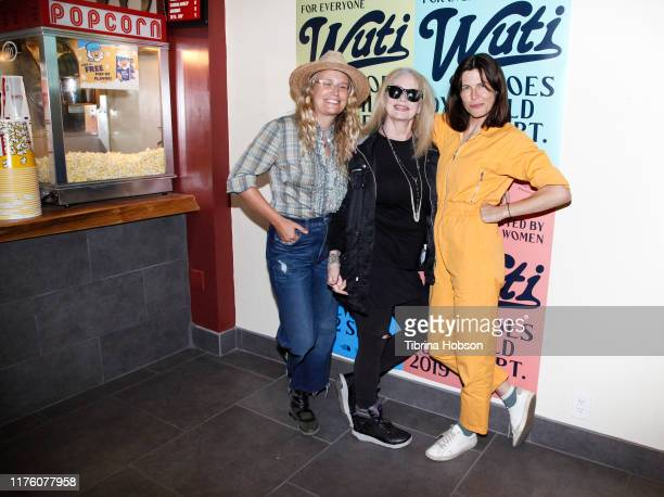Goes IdyllWILD CoFounders Laura Rule Tabitha Denholm and Filmmaker Penelope Spheeris attend the WUTI Goes IdyllWILD Women Under The Influence Film...