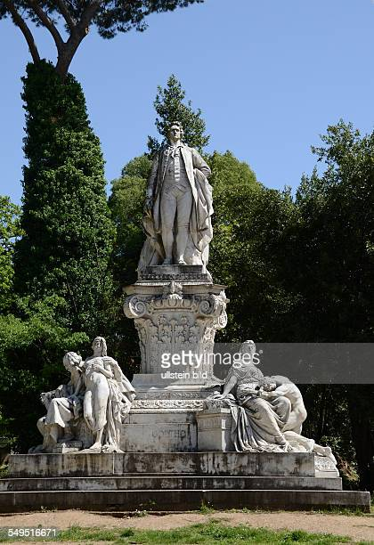 Goethe Denkmal Via di San Paolo del Brasile in der Villa Borghese