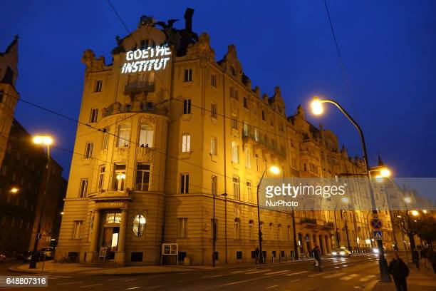 Goethe institut of Prague the capital city of Czech Republic during the winter on a cloudy day The Goethe Institut is a nonprofit German cultural...