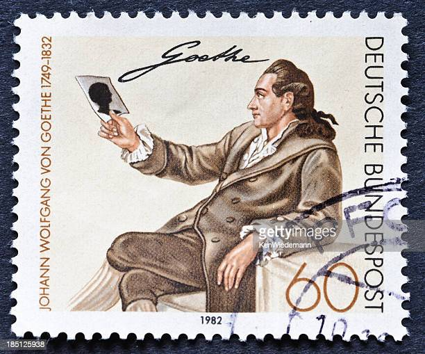 goethe portrait stamp - philosopher stock pictures, royalty-free photos & images