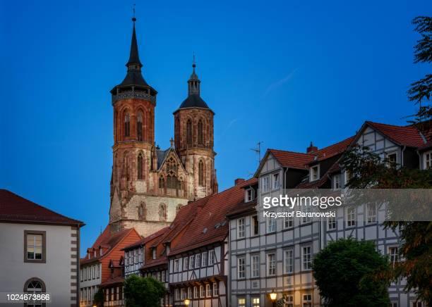 goettingen old town twilight - ゲッティンゲン ストックフォトと画像