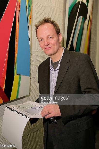 Goetz Grossmann attends FilmRise Celebrates new office in Industry City Brooklyn at FilmRise on February 25 2015 in Brooklyn New York