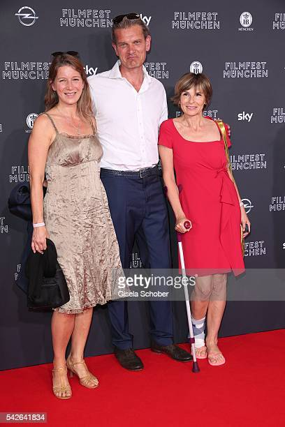 Goetz Otto and his wife Sabine Otto and Maria Bachmann during the opening night of the Munich Film Festival 2016 at Mathaeser Filmpalast on June 23...