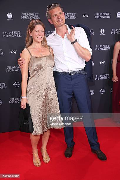Goetz Otto and his wife Sabine Otto during the opening night of the Munich Film Festival 2016 at Mathaeser Filmpalast on June 23 2016 in Munich...