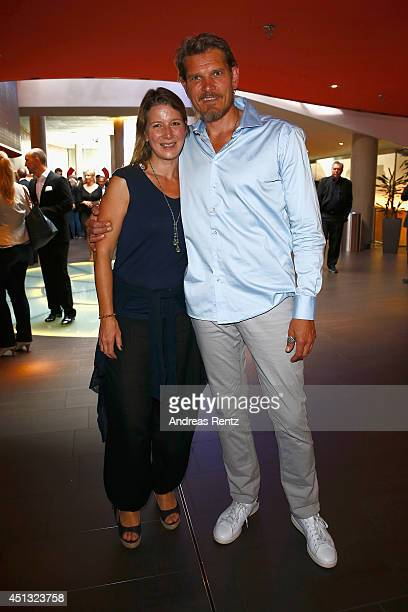 Goetz Otto and wife Sabine attend the Opening Night of the Munich Film Festival 2014 at Mathaeser Filmpalast on June 27 2014 in Munich Germany