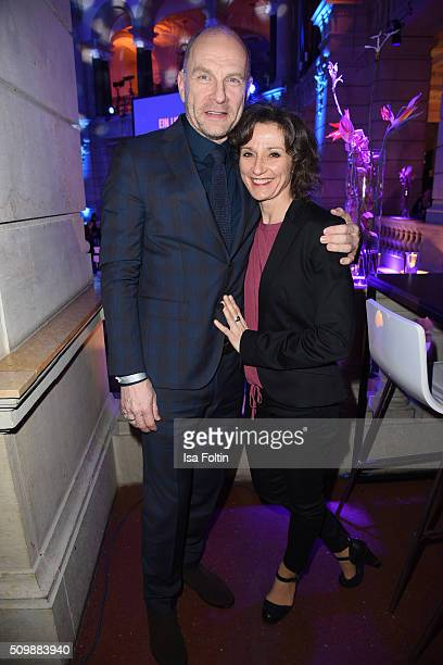 Goetz Schubert and his wife Simone Witte attend the ARD Hosts Blue Hour Reception on February 12, 2016 in Berlin, Germany.