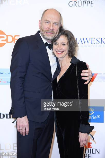 Goetz Schubert and his wife Simone Witte attend the Goldene Kamera on February 22, 2018 in Hamburg, Germany.