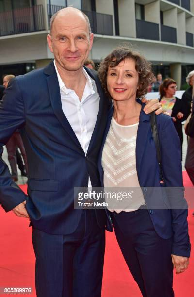 Goetz Schubert and Simone Witte attend the Opening Gala Of The 23. Jewish Film Festival Berlin And Brandenburg 2017 at Hans Otto Theater on July 2,...