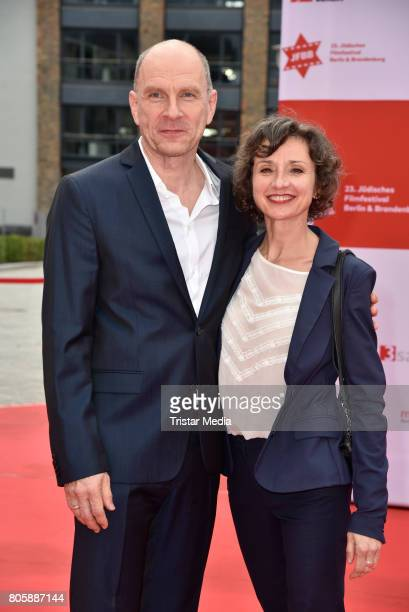 Goetz Schubert with his wife Simone Witte attend the Opening Gala Of The 23. Jewish Film Festival Berlin And Brandenburg 2017 at Hans Otto Theater on...