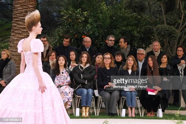 Go-Eun Kim, Marine Vacth, Carole Bouquet, Sofia Coppola and a guest attend the Chanel Haute Couture Spring Summer 2019 show as part of Paris Fashion...